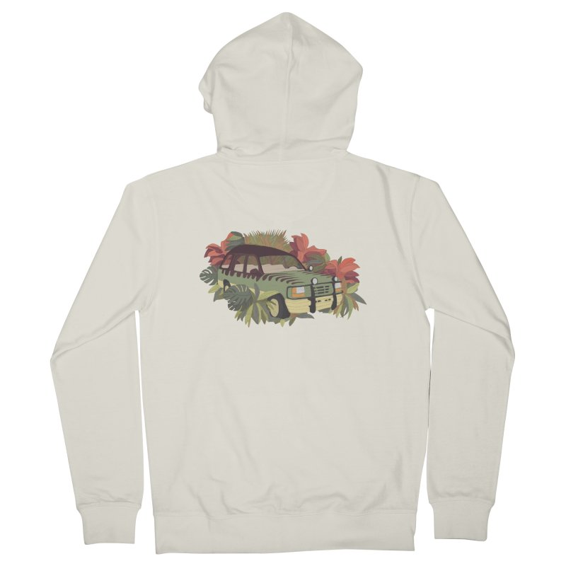 Jurassic Car Men's French Terry Zip-Up Hoody by Corsac's Artist Shop