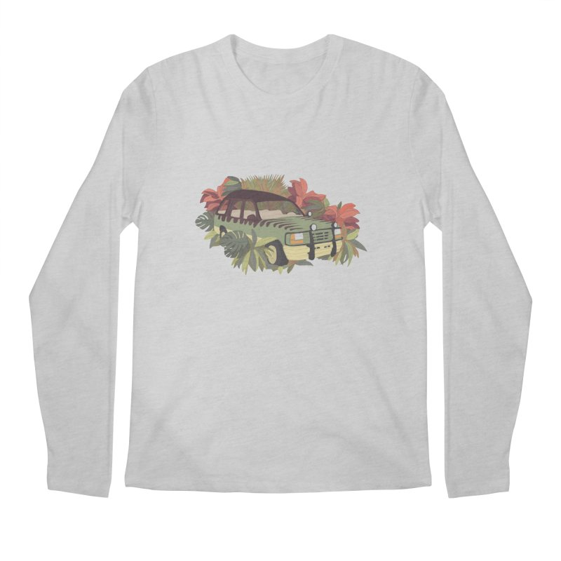 Jurassic Car Men's Regular Longsleeve T-Shirt by Corsac's Artist Shop