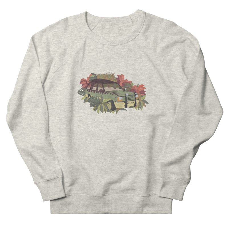 Jurassic Car Men's French Terry Sweatshirt by Corsac's Artist Shop