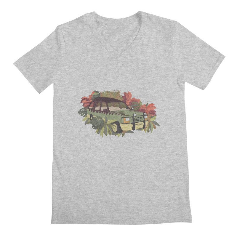 Jurassic Car Men's Regular V-Neck by Corsac's Artist Shop