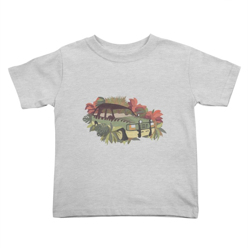 Jurassic Car Kids Toddler T-Shirt by Corsac's Artist Shop