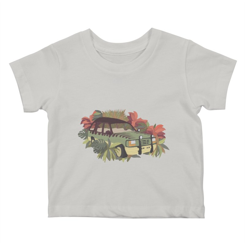 Jurassic Car Kids Baby T-Shirt by Corsac's Artist Shop