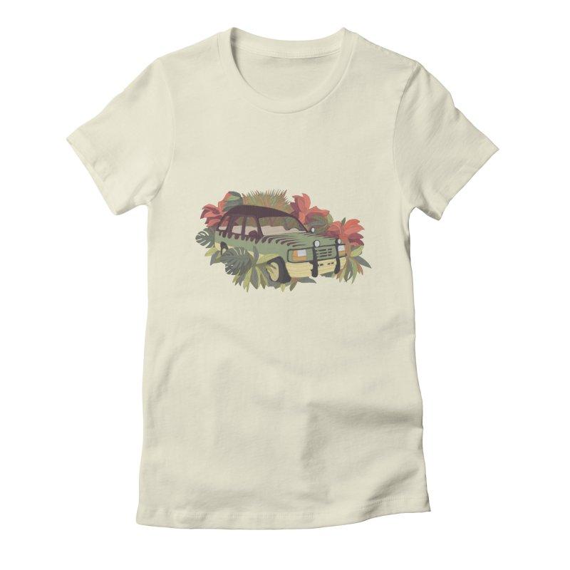 Jurassic Car Women's T-Shirt by Corsac's Artist Shop