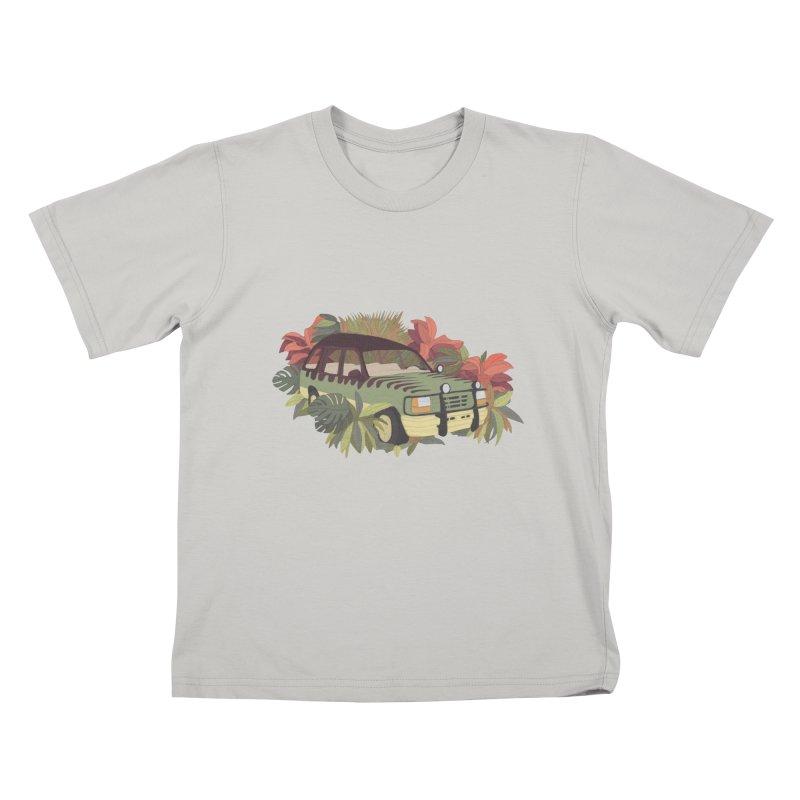Jurassic Car Kids T-shirt by Corsac's Artist Shop