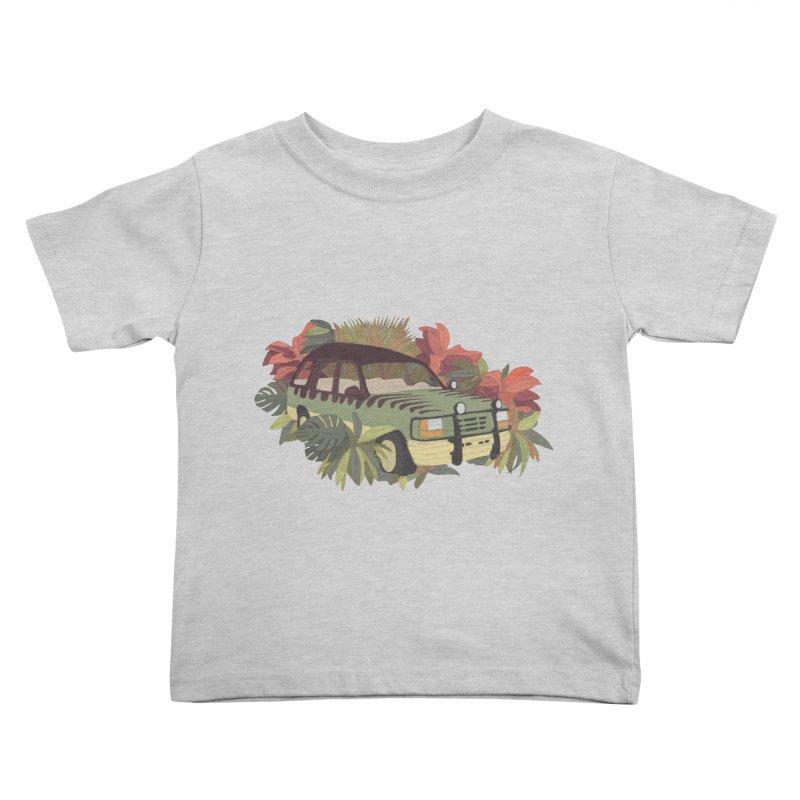 Jurassic Car Kids Toddler T-Shirt by Corsac's Artist Shop