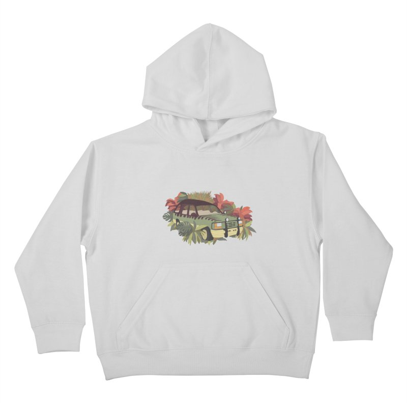 Jurassic Car Kids Pullover Hoody by Corsac's Artist Shop