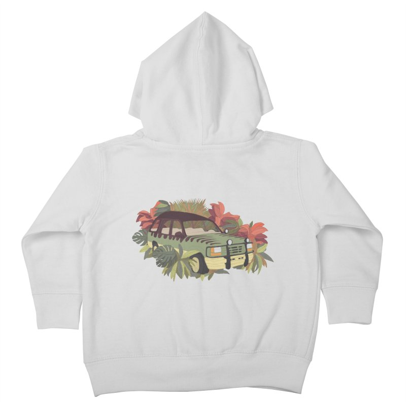 Jurassic Car Kids Toddler Zip-Up Hoody by Corsac's Artist Shop