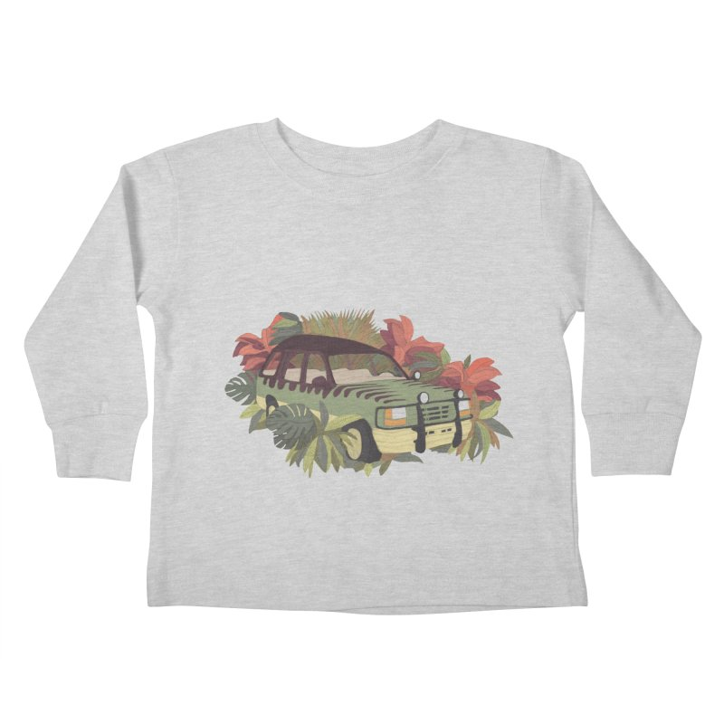 Jurassic Car Kids Toddler Longsleeve T-Shirt by Corsac's Artist Shop