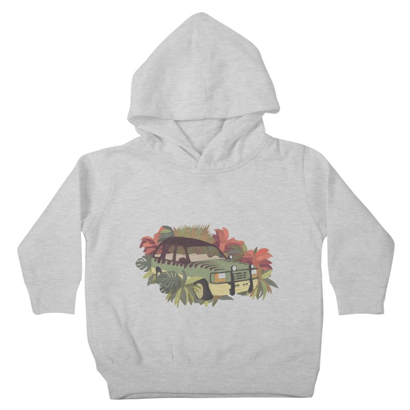 Jurassic Car Kids Toddler Pullover Hoody by Corsac's Artist Shop