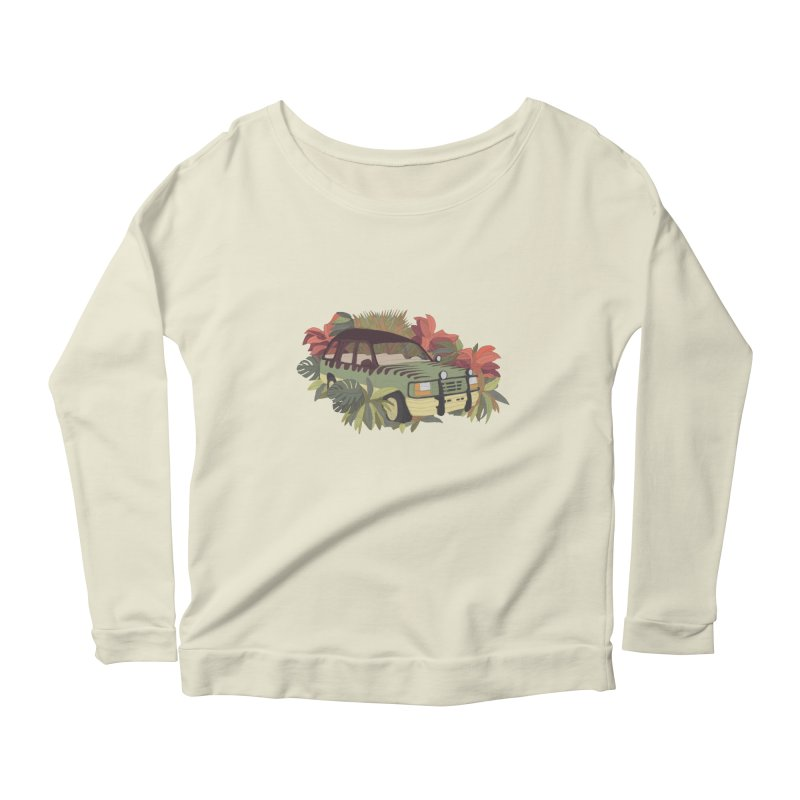 Jurassic Car Women's Scoop Neck Longsleeve T-Shirt by Corsac's Artist Shop