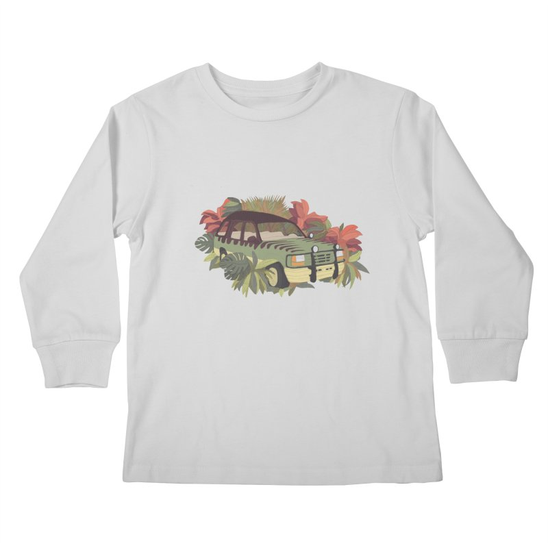 Jurassic Car Kids Longsleeve T-Shirt by Corsac's Artist Shop
