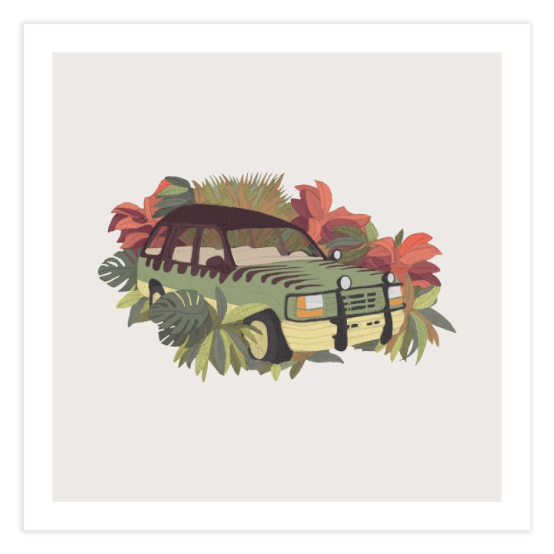 Jurassic Car Home Fine Art Print by Corsac's Artist Shop
