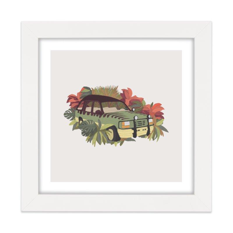 Jurassic Car Home Framed Fine Art Print by Corsac's Artist Shop