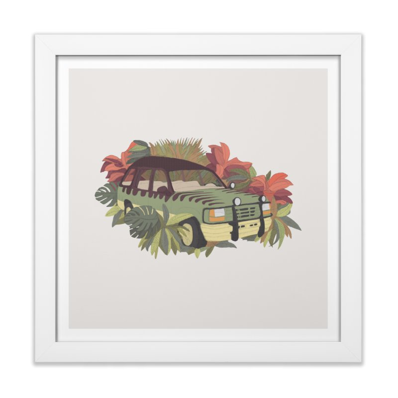 Jurassic Car Home Framed Fine Art Print by Corsac's Artist Shop