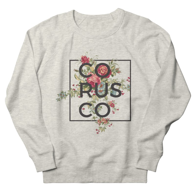 Flowers (Dark) Men's French Terry Sweatshirt by Corusco Merch