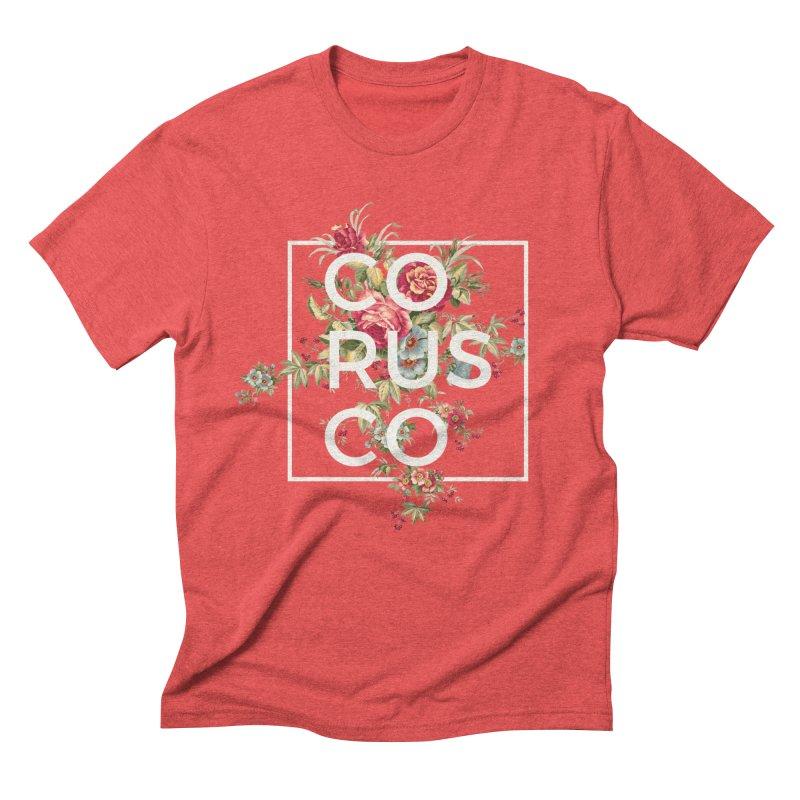 Flowers (White) Men's T-Shirt by Corusco Merch