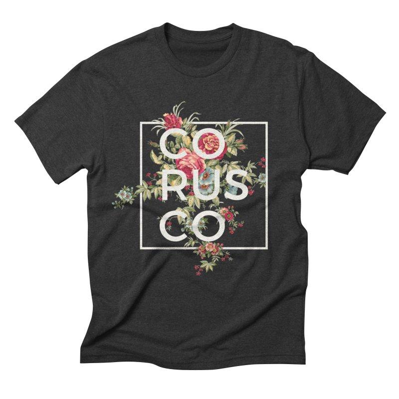 Flowers (White) Men's Triblend T-Shirt by Corusco Merch