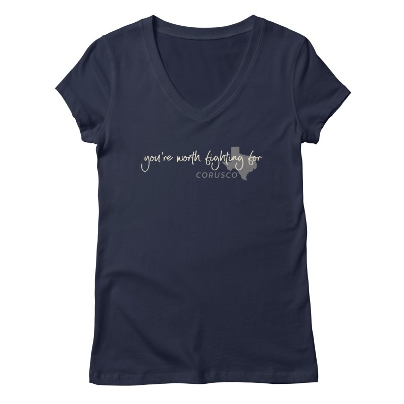 Burn Out Loud Women's Regular V-Neck by Corusco Merch