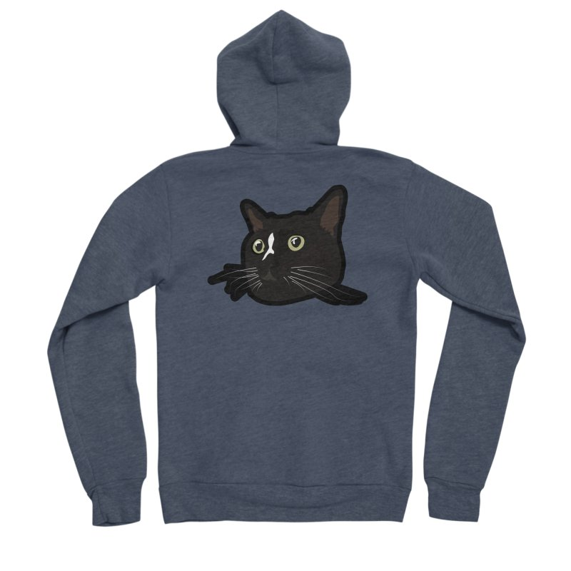 Tuxedo cat Men's Sponge Fleece Zip-Up Hoody by Cory & Mike's Artist Shop