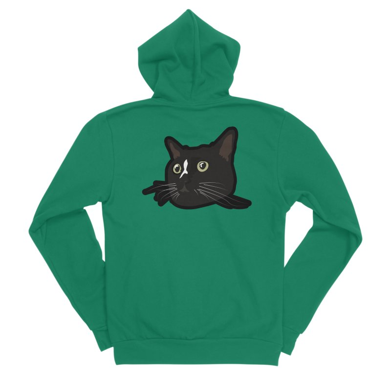 Tuxedo cat Women's Sponge Fleece Zip-Up Hoody by Cory & Mike's Artist Shop