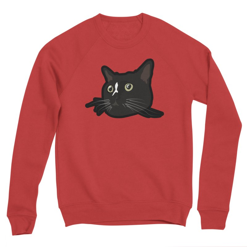 Tuxedo cat Women's Sponge Fleece Sweatshirt by Cory & Mike's Artist Shop
