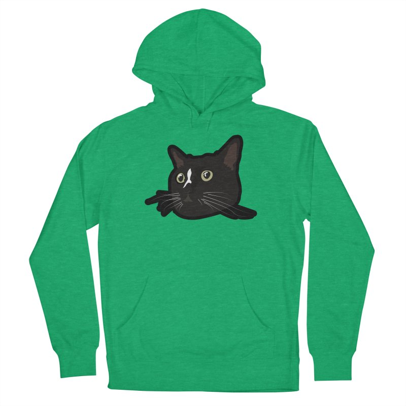 Tuxedo cat Women's French Terry Pullover Hoody by Cory & Mike's Artist Shop