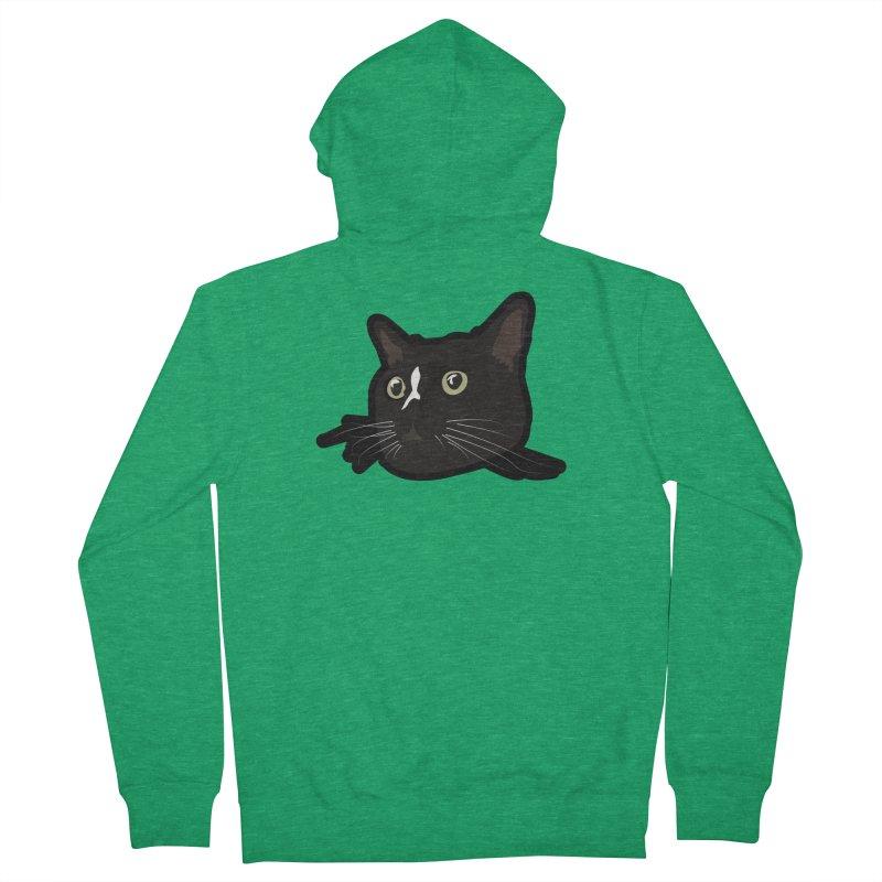 Tuxedo cat Women's Zip-Up Hoody by Cory & Mike's Artist Shop