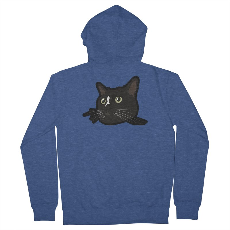 Tuxedo cat Women's French Terry Zip-Up Hoody by Cory & Mike's Artist Shop