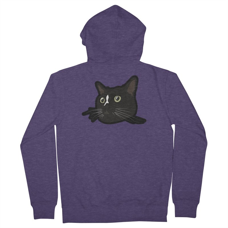 Tuxedo cat Men's French Terry Zip-Up Hoody by Cory & Mike's Artist Shop