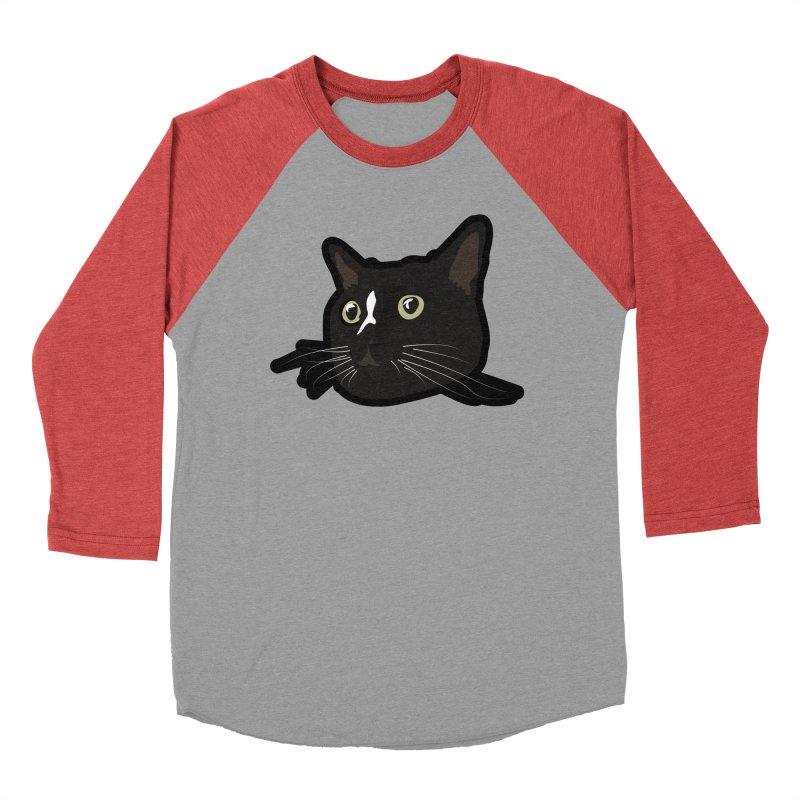 Tuxedo cat Women's Baseball Triblend Longsleeve T-Shirt by Cory & Mike's Artist Shop