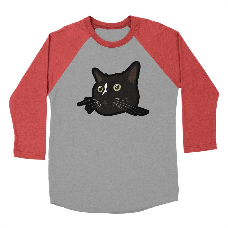 Tuxedo cat Men's Baseball Triblend Longsleeve T-Shirt by Cory & Mike's Artist Shop