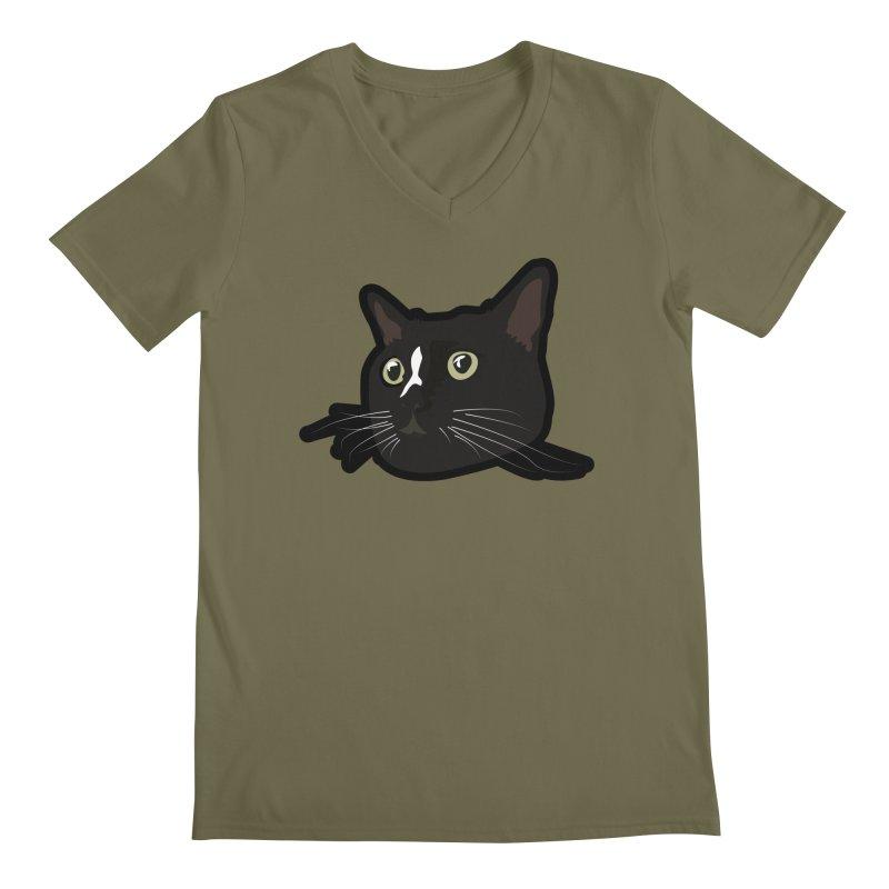 Tuxedo cat Men's Regular V-Neck by Cory & Mike's Artist Shop