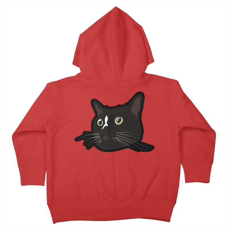 Tuxedo cat Kids Toddler Zip-Up Hoody by Cory & Mike's Artist Shop