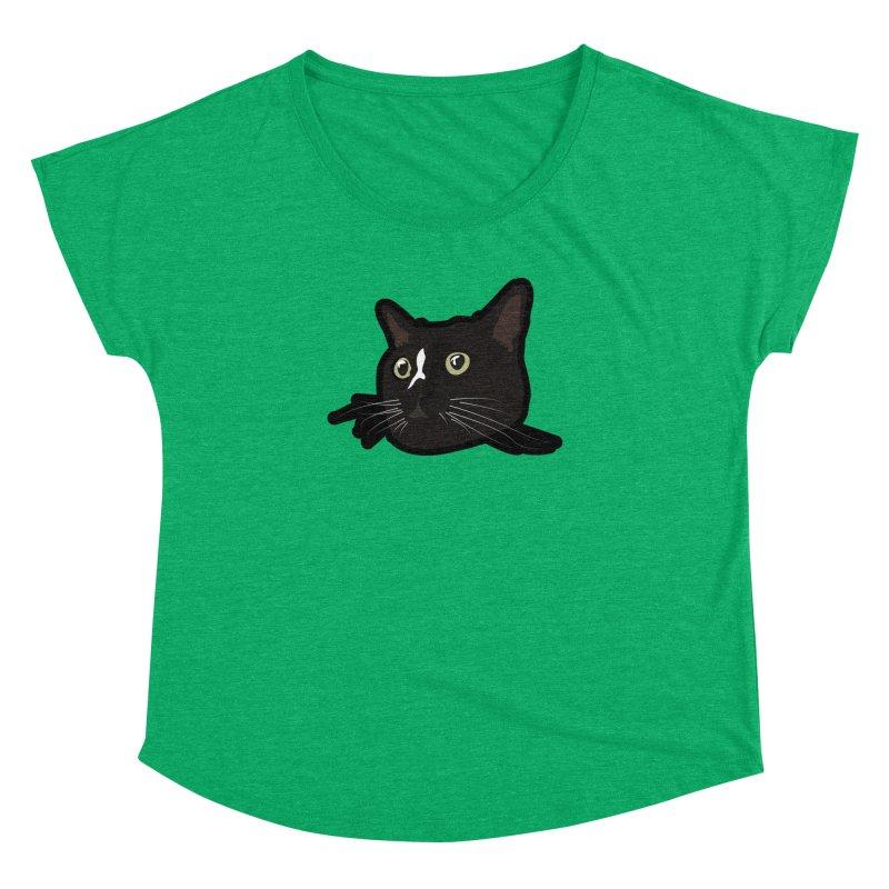 Tuxedo cat Women's Dolman Scoop Neck by Cory & Mike's Artist Shop