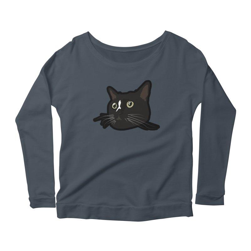 Tuxedo cat Women's Scoop Neck Longsleeve T-Shirt by Cory & Mike's Artist Shop
