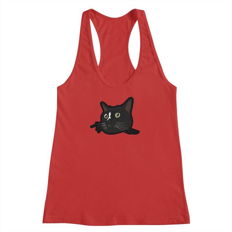 Tuxedo cat Women's Racerback Tank by Cory & Mike's Artist Shop