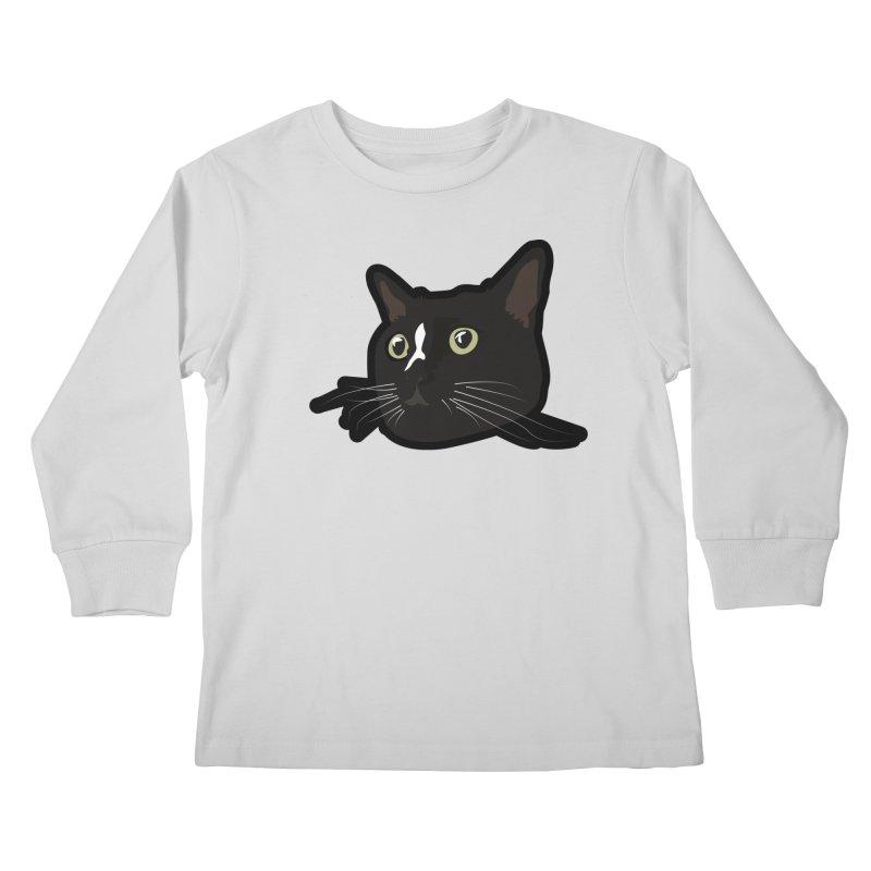 Tuxedo cat Kids Longsleeve T-Shirt by Cory & Mike's Artist Shop