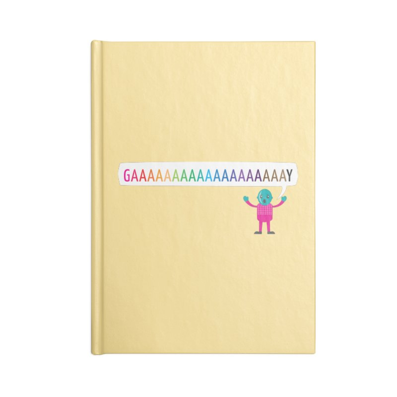 GAAAAAAAAAAAAAAAAAAAY Accessories Blank Journal Notebook by Cory & Mike's Artist Shop