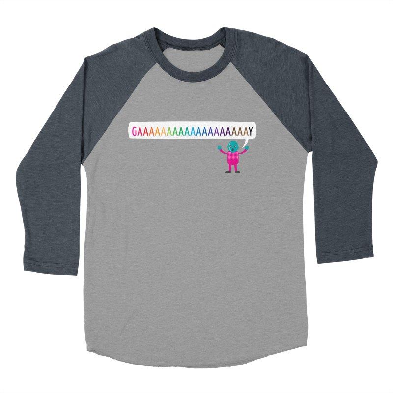 GAAAAAAAAAAAAAAAAAAAY Women's Baseball Triblend Longsleeve T-Shirt by Cory & Mike's Artist Shop