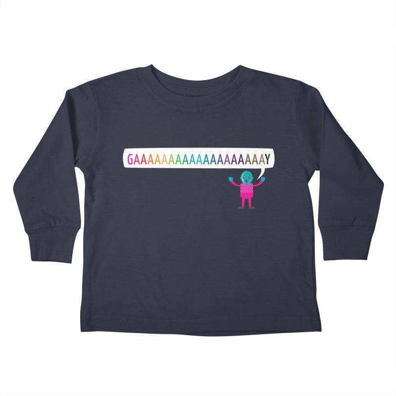 GAAAAAAAAAAAAAAAAAAAY Kids Toddler Longsleeve T-Shirt by Cory & Mike's Artist Shop