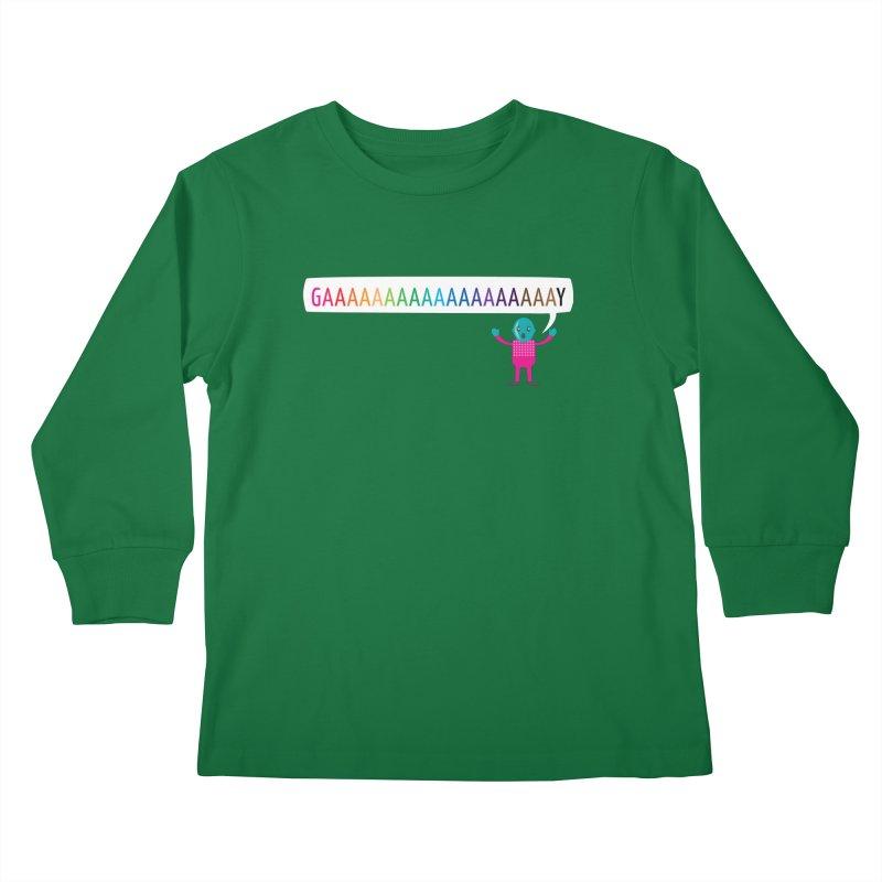 GAAAAAAAAAAAAAAAAAAAY Kids Longsleeve T-Shirt by Cory & Mike's Artist Shop