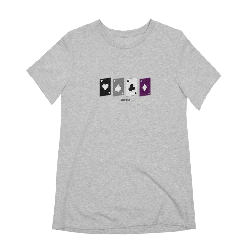 Aces Up :) Women's Extra Soft T-Shirt by Cory & Mike's Artist Shop