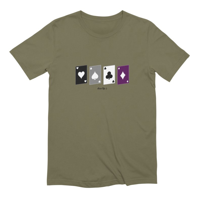 Aces Up :) Men's Extra Soft T-Shirt by Cory & Mike's Artist Shop