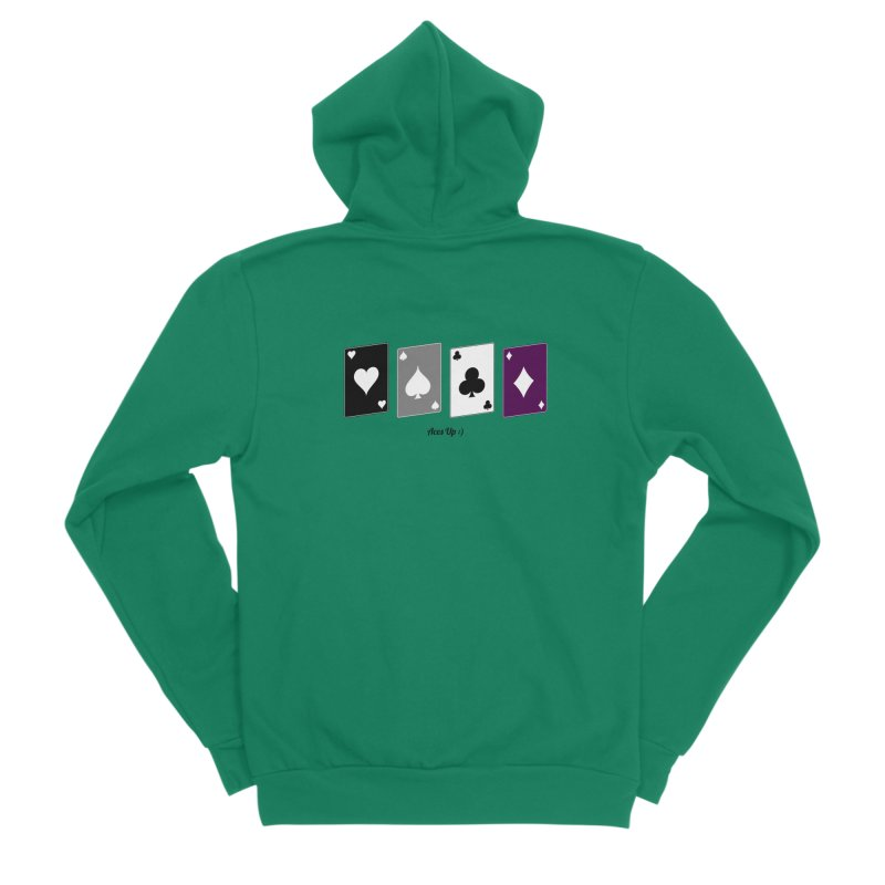 Aces Up :) Women's Sponge Fleece Zip-Up Hoody by Cory & Mike's Artist Shop