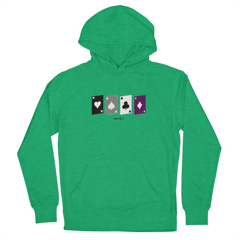 Aces Up :) Men's French Terry Pullover Hoody by Cory & Mike's Artist Shop