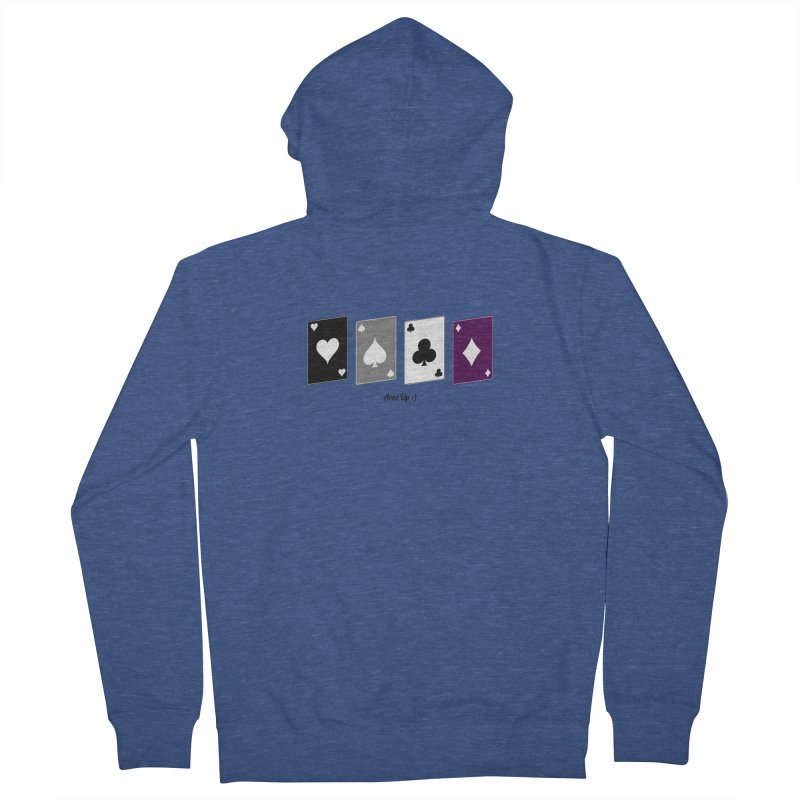 Aces Up :) Women's French Terry Zip-Up Hoody by Cory & Mike's Artist Shop