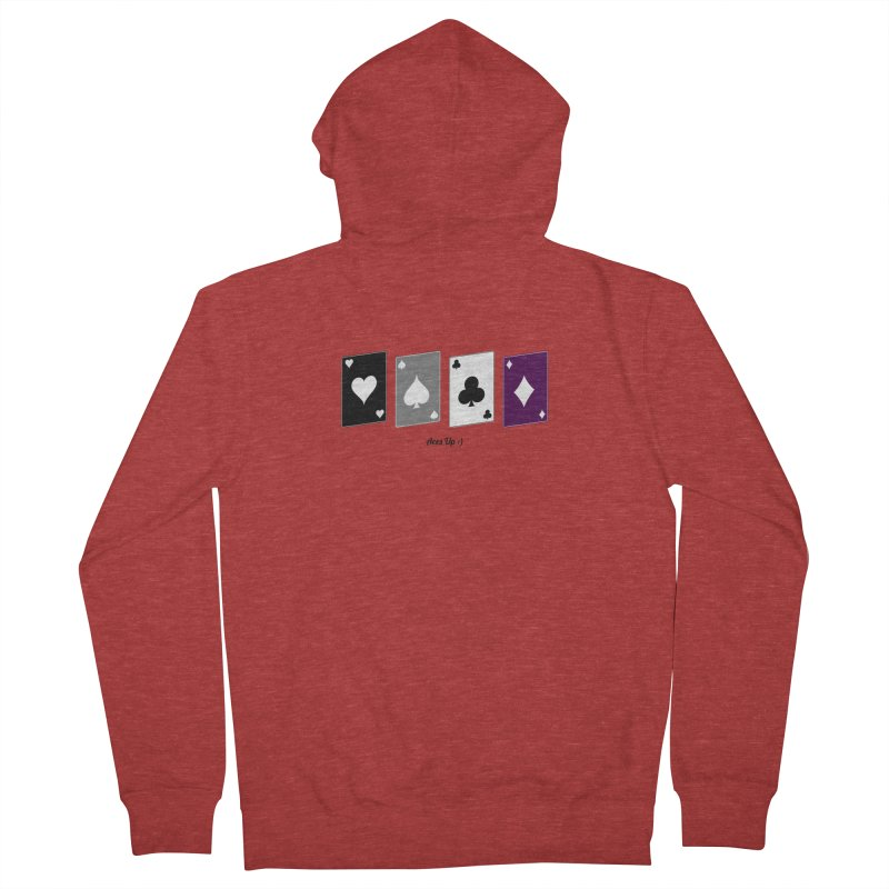 Aces Up :) Men's French Terry Zip-Up Hoody by Cory & Mike's Artist Shop