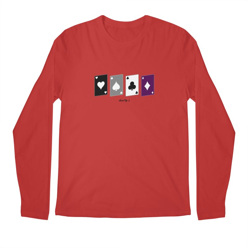 Aces Up :) Men's Regular Longsleeve T-Shirt by Cory & Mike's Artist Shop