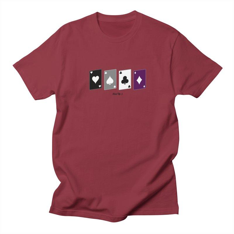 Aces Up :) Men's Regular T-Shirt by Cory & Mike's Artist Shop