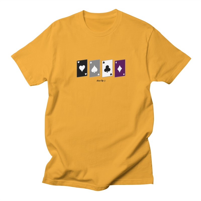 Aces Up :) Men's Regular T-Shirt by Cory & Mike's Artist Shop